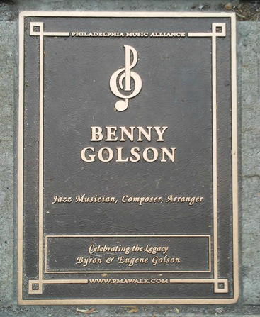 Benny Golson Plaque