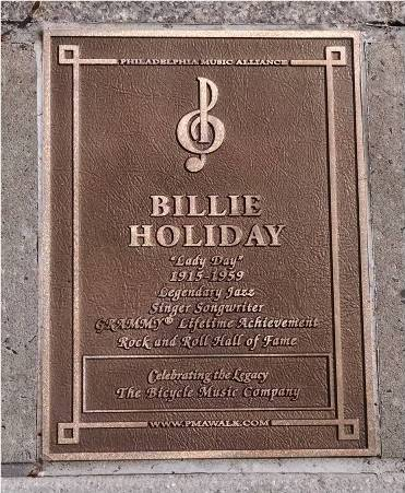 Billie Holiday Plaque