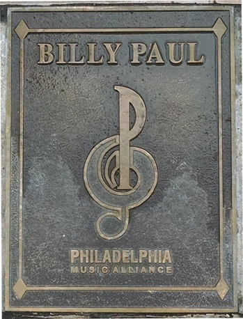 Billy Paul Plaque