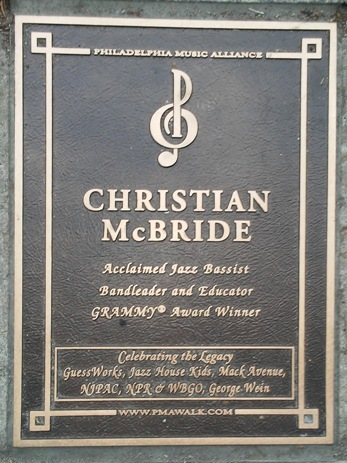 Chrisian McBride Plaque - Feature