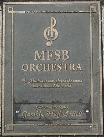 MFSB Orchestra Plaque