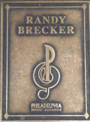 Randy Brecker Plaque