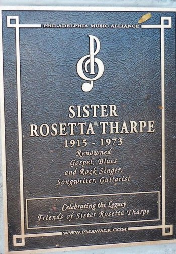 Sister Rosetta Tharpe Walk of Fame Plaque