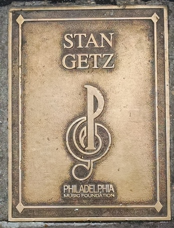 Stan Getz Plaque