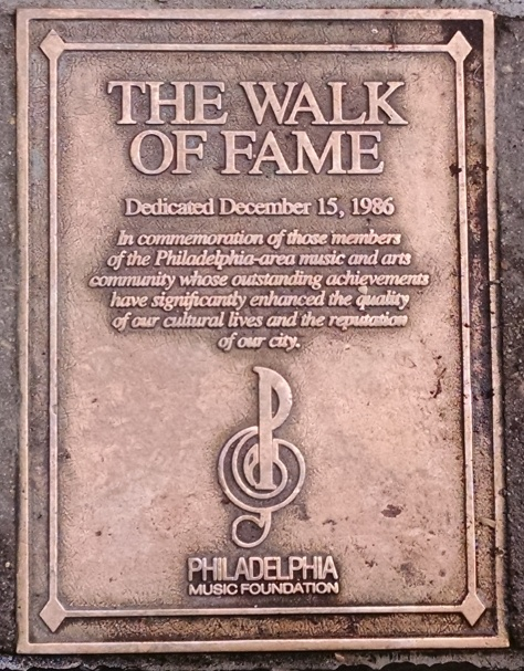 The Walk of Fame Plaque - 1986