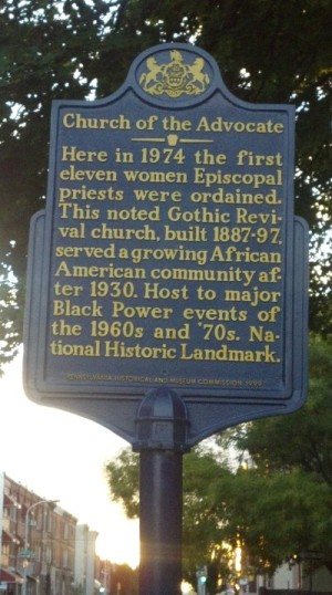 Church of the Adocate Historical Marker