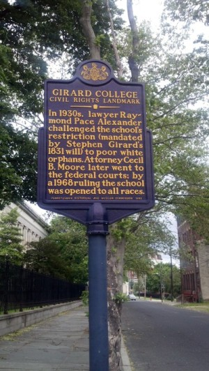 Girard College Historical Marker