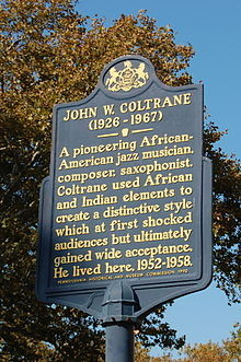 John Coltrane Historic Marker