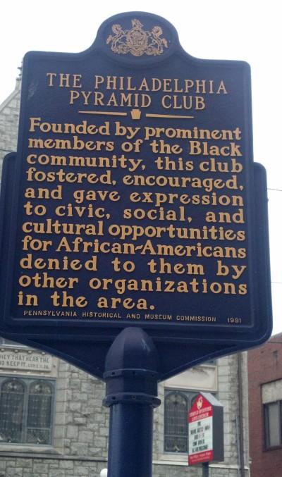 Pyramid Club Historical Marker