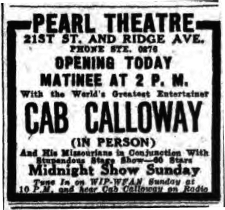 #TBT Cab Calloway - Pearl Theatre