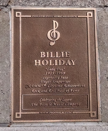 Billie Holiday - Walk of Fame Plaque - 10.26.15