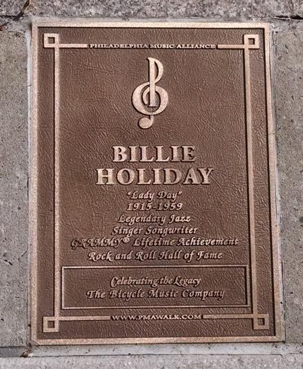 Billie Holiday - Walk of Fame Plaque - 10.26.15