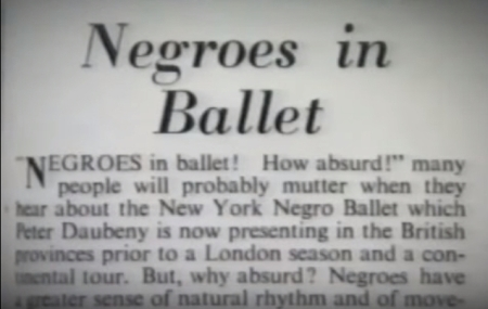 Negroes in Ballet