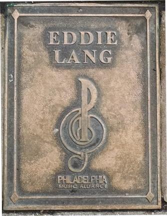 Eddie Lang Plaque