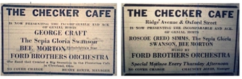 Checker Cafe Ads