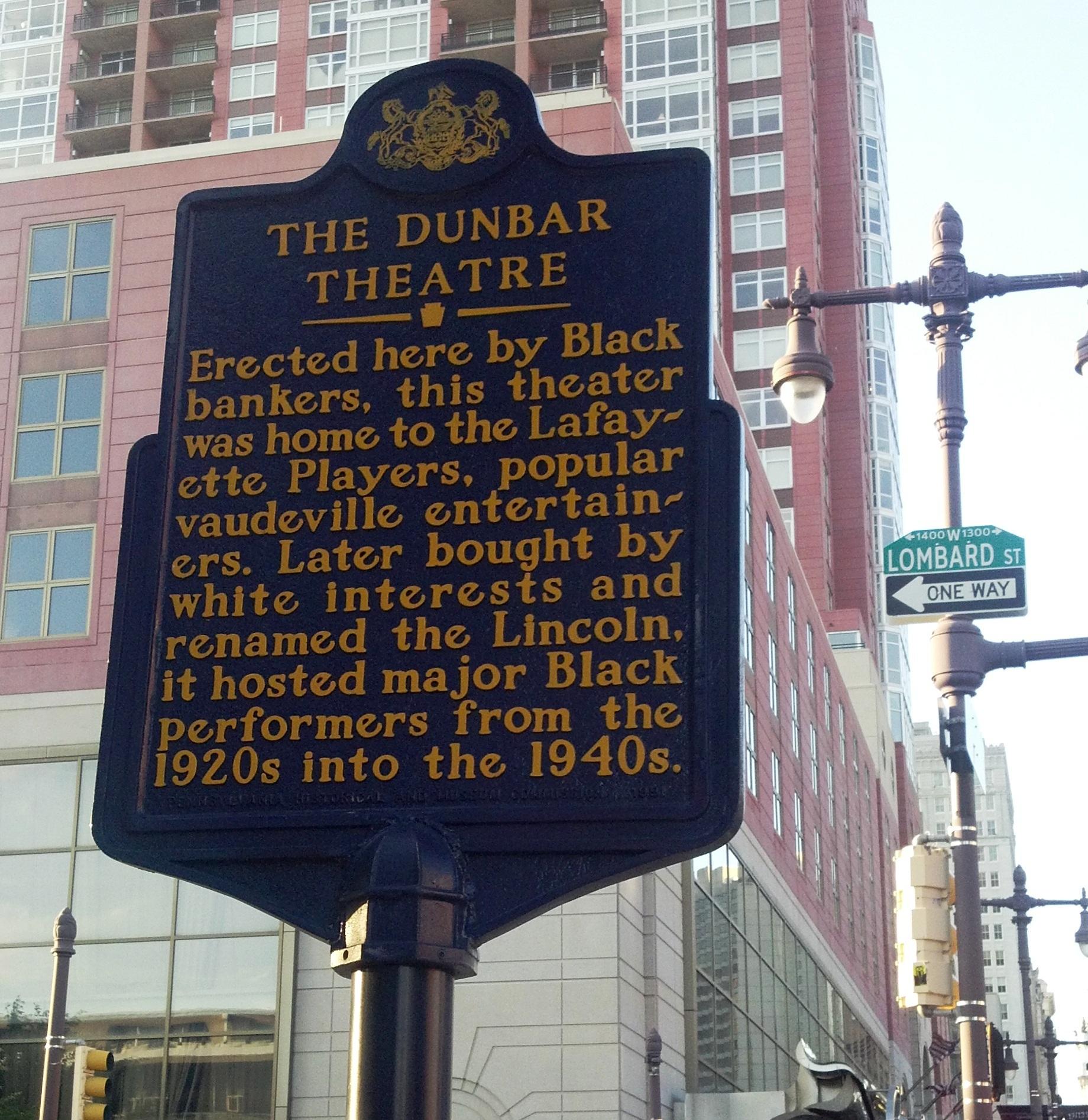 Dunbar Theatre - Lombard Street Sign