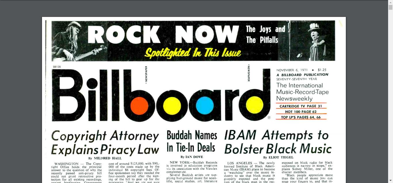 Billboard - IBAM - Nov. 6, 1971