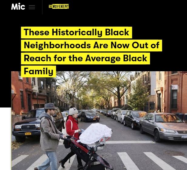 Gentrification - Historically Black Neighborhoods