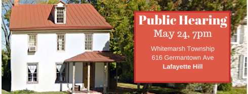 Whitemarsh Township Board of Supervisors Meeting - May 24, 2018