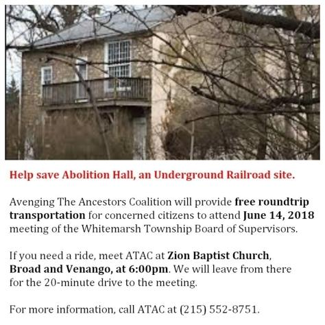 #AbolitionHall - ATAC - June 14, 2018