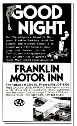 Franklin Motor Inn - New York Magazine Ad 1980