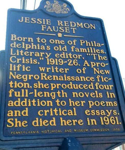 jessie redmon fauset historical marker2