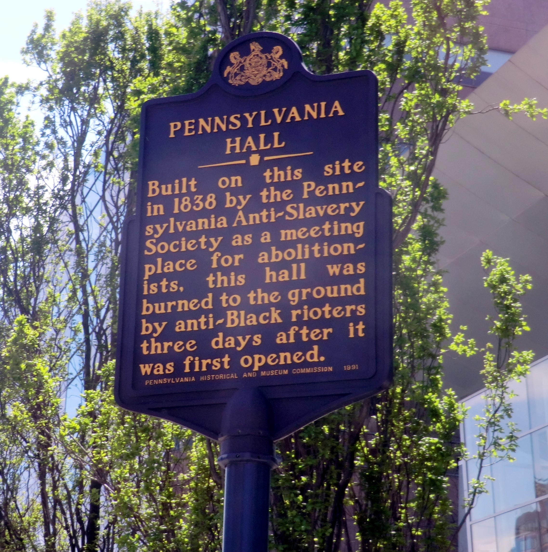 Pennsylvania Hall Marker