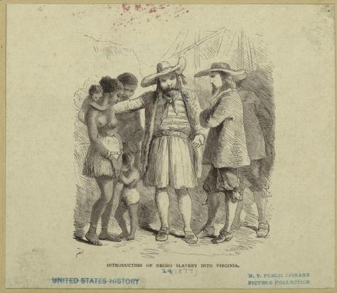 #400Years - Introduction of negro slavery into Virginia - NYPL Digital Collections
