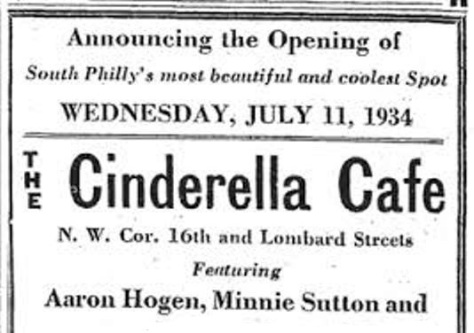 Cinderella Cafe - July 11, 1934