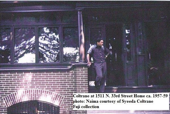 John Coltrane on Porch - 1511 N. 33rd Street