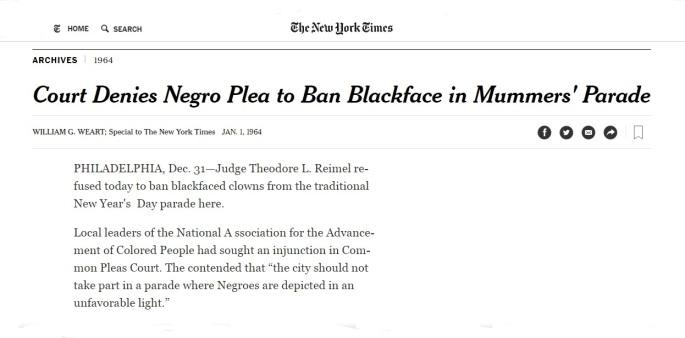 #FrankRizzo - NYT Blackface Clowns
