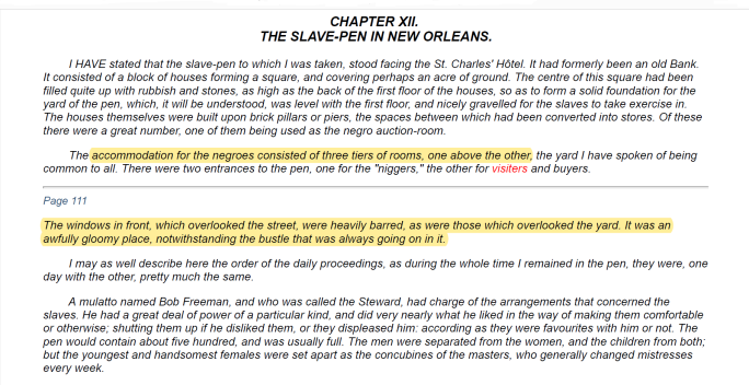 John Brown Slave Narrative - New Orleans Slave Pen