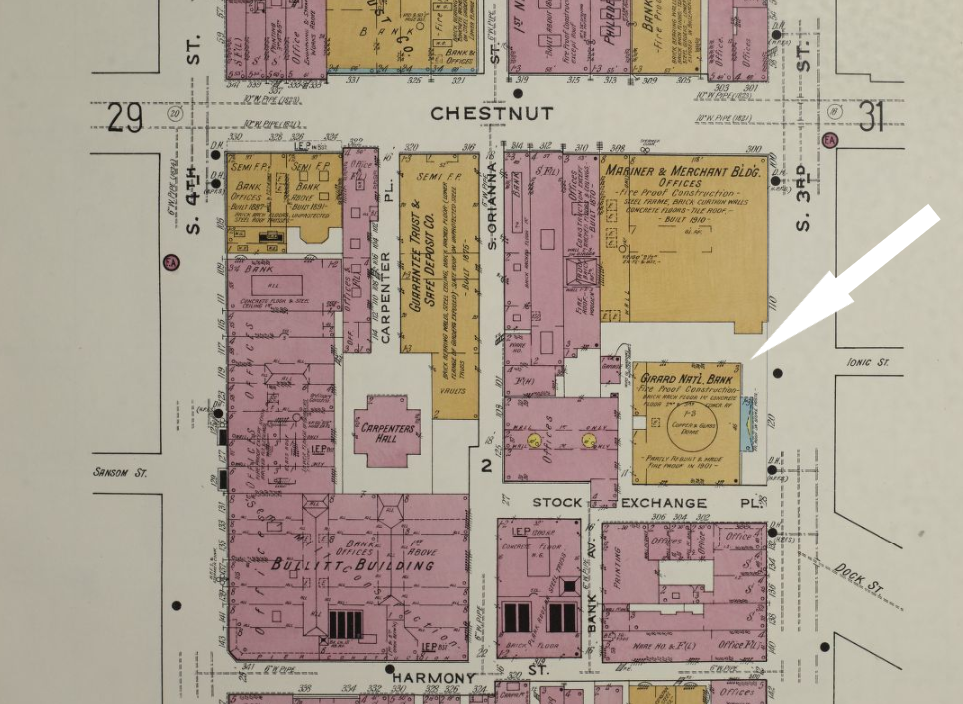 Sanborn Fire Insurance Map - Girard National Bank