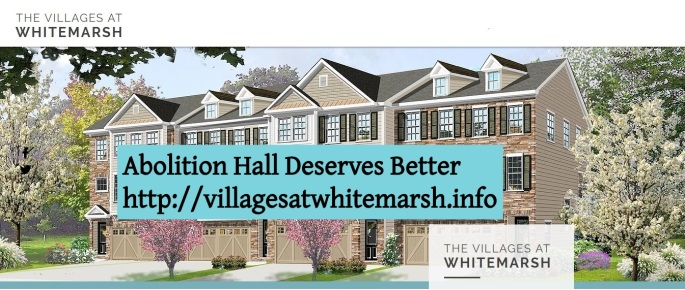 #AbolitionHall Deserves Better -Villages at Whitemarsh