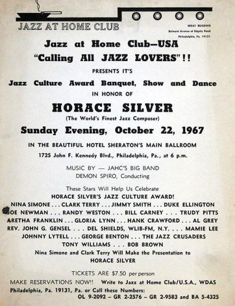 Jazzz at Home Club - Horace Silver - October 22, 1967